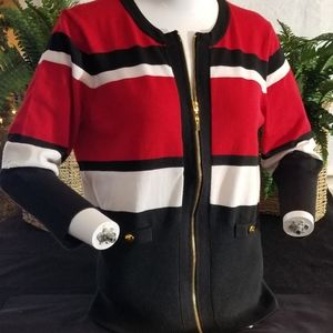 Cable & Gauge Stripped Sweater
